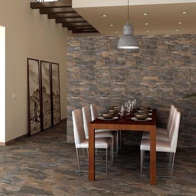 Slate wall tiles -