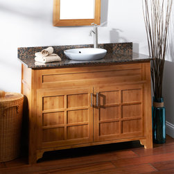 "48"" Bangkok Bamboo Vanity for Semi-Recessed Sink - Give your bath a refreshing update with the eco-friendly and spacious 48"" Bangkok Bamboo Vanity."
