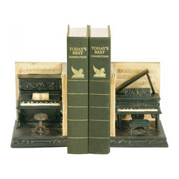 Joshua Marshal - Pair Dueling Piano Bookends - Pair Dueling Piano Bookends