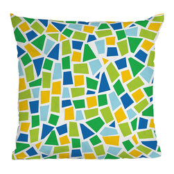 DENY Designs - DENY Designs Khristian A Howell Baby Beach Bum A6 Throw Pillow - Marvelous Mosaic. If you're feeling a little artsy, the DENY Designs Khristian A Howell Baby Beach Bum A6 Throw Pillow is a great way to add color and texture to your space. With a bright green, blue and yellow mosaic design, this pillow can be paired with dark or bright solids, and if you're feeling really creative, group with other patterned pillows in the same color families. Like all textile products from DENY Designs, the Baby Beach Bum A6 Throw Pillow is 100% custom made for each order using a dye printing process where the ink is dyed directly into the fibers of the fabric, keeping pillows fade-resistant and vibrant. A artist's dream!Made in the USACustom print for each orderWoven polyester