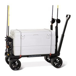 Mighty Max Cart Sports Fishing Cart - The Mighty Max Cart Sports Fishing Cart is a totally unique cart that's ready for seriously anything. This utility flatbed cart is built entirely of high-impact plastic that'll never rust never degrade and never break. It weighs only 22 lbs. but boasts a carrying capacity of 600 lbs. The wide-grip wheels feature rubber tread for easy grip on any surface including rock and sand and they'll never go flat. Mighty Max expands to fit all different sizes of boxes coolers carriers and more and retracts to fit easily in a trunk or closet. 100% made in the USA. Limited lifetime warranty included. About Mighty MaxMighty Max set out to build a better more useful garden cart while contributing to a sustainable green American economy and has succeeded admirably. With a range of effecient and convenient products designed to make your job easier Mighty Max has committed itself to using 100% recylcable materials and sourcing and building their products entirely in the U.S.A. They will not break bend or rust - ever - and can be easily configured by anyone. When your ready to do a better job faster you're ready for a Mighty Max.