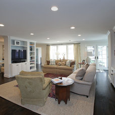 Transitional Family Room by JRHammel Construction Services