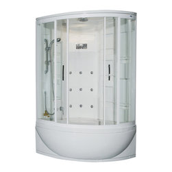 AmeriSteam - Ariel AmeriSteam ZA212 Steam Shower - Now you're cooking. This elegantly modern shower enclosure will cleanse your palate and steam your muscles at the same time. It features a built-in steam generator, an FM radio and both handheld and rainfall shower heads for a completely immersive and nourishing experience.