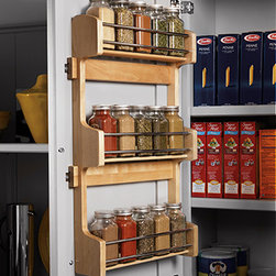 Spice Rack - Attach to inside of cabinet door for organized storage and convenience