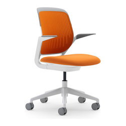 Orange Cobi Task Chair - Comfort and design come together to make the perfect perch.
