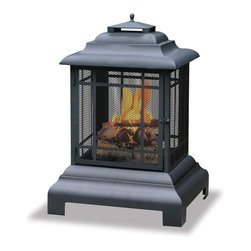 Garden Treasures - Garden Treasures WAF501CS Belmont Large Outdoor Firehouse - Warmth and Visibility from All Sides