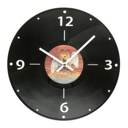 "Record Wall Clock - What a great option for a wall clock! Record clocks are created from vintage 12"" records."