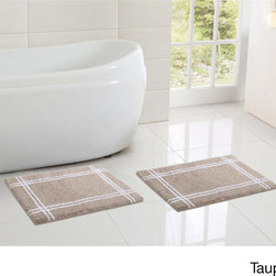None - Clark Hotel Microfiber Memory Foam 17 x 24 Bath Mat (Set of 2) - This beautiful Memory Foam bath rub represents the classic-meets-modern style. Its rubber backing ensures stay-put placement,so you can focus on much-needed pampering.
