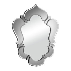 ZUO - Vishnu Mirror - Gray - The Moroccan inspired Vishnu Mirror calls to mind the roof of a temple. Adds a lightly exotic air to the room. Comes in gray, clear or black, with dual wires for multiple hanging options.