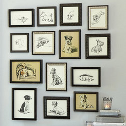 Ballard Designs - Dog Days Prints - I would definitely add a collection of these dog prints to my gallery wall. I think it would be fun to include an actual picture of my dog as well.