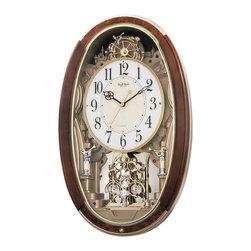 "Rhythm Clocks - 24.7"" x 16"" Trumpet Boys Musical Wall Clock - At the top of each hour, the MAGIC Begins!"