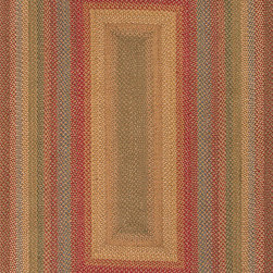 """Hudson Jute Braided Rugs HBR01 Rug - 2'3""""x3'9""""Oval - These braided jute rugs are both durable and rich in color and style."""