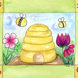 Oh How Cute Kids by Serena Bowman - Honey I'm Home, Ready To Hang Canvas Kid's Wall Decor, 11 X 14 - Each kid is unique in his/her own way, so why shouldn't their wall decor be as well! With our extensive selection of canvas wall art for kids, from princesses to spaceships, from cowboys to traveling girls, we'll help you find that perfect piece for your special one.  Or you can fill the entire room with our imaginative art; every canvas is part of a coordinated series, an easy way to provide a complete and unified look for any room.