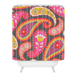DENY Designs - Mary Beth Freet Treasure Trunks Shower Curtain - Who says bathrooms can't be fun? To get the most bang for your buck, start with an artistic, inventive shower curtain. We've got endless options that will really make your bathroom pop. Heck, your guests may start spending a little extra time in there because of it!