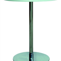 Chintaly Imports - Jack Counter Pub Table MDF - High quality contemporary style fixed height pub table. It features White MDF table top and stainless steel base. Very crisp clean appearance.