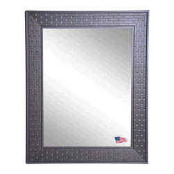 Rayne Mirrors - USA Made Coffee Crate Wall Mirror - Complete any room with this beautifully-textured decorative framed mirror. Its unique brick design provides an eye-catching accent versatile enough to work with a wide range of decorative themes. Vertical and horizontal hanging hardware included.  Rayne's American Made standard of quality includes; metal reinforced frame corner  support, both vertical and horizontal hanging hardware installed and a manufacturers warranty.