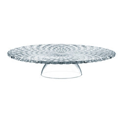 Nachtmann - Nachtmann Dancing Stars Bossa Nova Dual Usage Chip and Dip/Cake Plate Pedestal - Here's a piece of serving ware that's as impressive and versatile as your entertaining style. The crystal creation functions as a pedestal cake plate or, inverted, as dipping bowl and platter for crudites and the like.