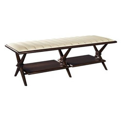 Hickory Chair Ottomans and Benches - Description