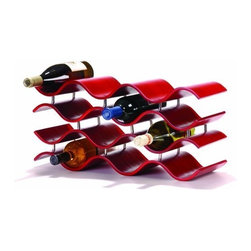 Oenophilia Bali 10 Wine Rack, Crimson - Expand your kitchen workspace with this natural finish work island featuring an elegant granite top.