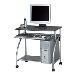 Mayline - Mayline Eastwinds Argo Mobile Metal Computer Desk-Medium Cherry - Mayline - Computer Carts - 947MEC - Perfect for students young professionals or anyone needing a portable yet sturdy computer desk. This metal frame computer desk has a keyboard and mouse tray plus a low bottom shelf for CPU storage and leg room. There is plenty of space on the top surface shelf for a monitor notepad office supplies and more.
