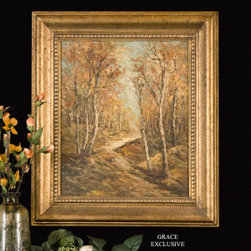 "40750 Hand Painted Art by uttermost - Get 10% discount on your first order. Coupon code: ""houzz"". Order today."