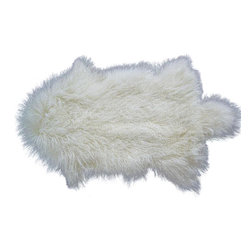 Curly Fur Imports - Tibetan / Mongolian Lamb Fur Pelt / Rug - This is a professionally dyed whole, individual, unsewn Tibetan lamb pelt. Tibetan lamb pelts are perfect for many projects: one of a kind dolls, bears, etc., or as decorative rugs or throws for your home. They make a great material for use in making many products.