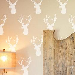 Cute Stencils - Deer Head Wall Stencil - DEER HEAD WALL STENCIL DESIGN
