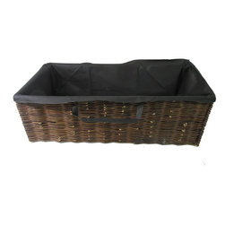 """Master Garden Products - Willow Rectangle Planter with Non-woven Liner, 42""""L x 18""""D x 14""""H - Our willow planters allows you to plant directly into the basket anywhere in your garden where the conditions are right. These planters are excellent for a wide range of plants and will definitely give your garden an authentic feel. The soil is filled into the liner bags which is made from non woven fabric, the same materiel used in making the very popular direct growth hanging planter bag. The willow planter walls are consisted of classic willow woven panels. They are easily movable and can be put away when not in use."""