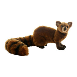 Hansa Toys - Hansa Toys Mongoose - Hansa Mongoose is made from reddish brown plush with an impressive striped tail. Hansa Mongoose has whiskers and black nose and eyes. Hansa Mongoose stands on four legs, and legs are a darker color than body. Ears are pert. Ages 3 and up.