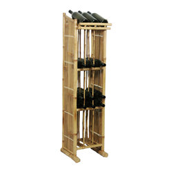 Bamboo54 - Wine Rack Tower - Keep your favorite bottles on hand with this unique Bamboo Wine Rock Tower. This handcrafted furniture is made of 100 percent bamboo with an oil treated finish that makes it very durable and sturdy. It creates a unique and tasteful natural dcor for your wine or barware storage. Some assembly required for this accent piece. Add a touch of the exotic to your home decor with a Bamboo Wine Tower. Ideal for your Dining Room or Bar Room.
