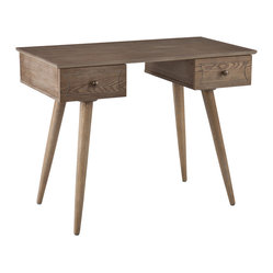 Holly & Martin - Bentley Desk - This burnt oak desk takes a look back to move forward with style. Add this contemporary desk to your home and it's sure to spark conversation.