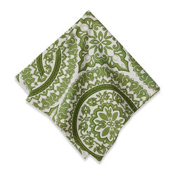 Medallion Napkins, Kelly Green