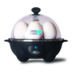 Storebound - Dash Rapid Egg Cooker, Black - Makes soft, medium, and hard boiled eggs in 12 minutes or less. Boiling tray holds up to 6 eggs. Poaches up to 2 eggs with separate poaching tray.