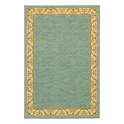 "Karastan - Transitional Sierra Mar 2'5""x4' Rectangle Robins Egg Blue-Ivory Area Rug - The Sierra Mar area rug Collection offers an affordable assortment of Transitional stylings. Sierra Mar features a blend of natural Robins Egg Blue-Ivory color. Machine Made of New Zealand Wool the Sierra Mar Collection is an intriguing compliment to any decor."