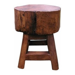 Groovy Stuff Stump Seat - Provide extra seating at an outdoor party by placing a few of these stump stools around randomly. A cheaper DIY approach would be to cut your own stump stools from overgrown trees.