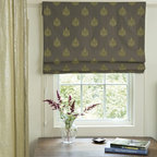 Smith and Noble Classic Roman Fabric Shades - Fabric Shades make for endless possibilities, like fabric Roman shades for an exotic look, or London fabric window shades for a touch of class. Starting at $131+