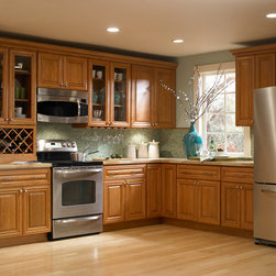 Findley & Myers Beacon Hill Red Oak Kitchen Cabinets - Elegant, prestigious, exclusive. These cabinets are crafted from North American Red Oak, a time honored hardwood that will give your kitchen a classic look as well as provide years of reliable use.