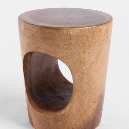 Tunnel Stool - This piece has a midcentury vibe.