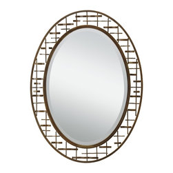 Kichler Lighting - Kichler Lighting Loom Transitional Oval Mirror X-84287 - This Loom mirror combines clean lines with original detailing to create a memorable accent piece. Featuring a rich, Olde Bronze finish, this fixture will elevate and enhance any space in your home.