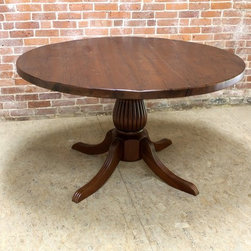 48 in Reclaimed Round Dining Table - Made by http://www.lakeandmountainhome.com