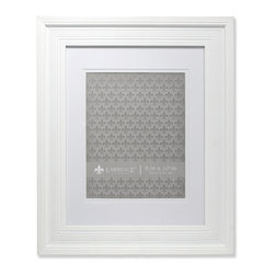 """Lawrence Frames - 11x14 Wide Grooved Black Matted to 8x10 - Fabulous wide white fluted compostie picture frame.  This is a gorgeous and elegant matted picture frame that will be a great decorative addition to any room.  This frame can be used for an 8"""" x 10"""" photo with included mat, or 11"""" x 14"""" photo or document without the mat.  Comes with hangers for vertical or horizontal wall mounting.  High quality black masonite backing.  Picture frame comes with glass to protect your photo, and is individually boxed."""
