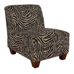 Chelsea Home Furniture - Chelsea Home Sally Armless Chair in Zambia Coffee - Chelsea Home Sally Armless Chair in Zambia Coffee