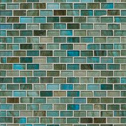 Mantra Mini Brick Mosaic in Sari Blue Gloss - MANTRA