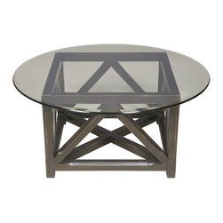 Vanguard - Cocktail Table - There are tables that fade into the decor and others, like this one, that command breathless attention. The crate-like base design provides an aesthetically pleasing look. Place in your room and let the conversation begin.