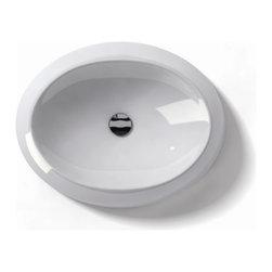"WS Bath Collections - LVO 150 Vessel Sink 23.6"" - Ceramica by WS Bath Collections 23.6 x 18.5 Above The Counter Bathroom Sink/ Washbasin in ceramic white"