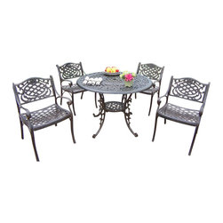 """Oakland Living - Oakland Living Mississippi Lattice Pattern 42"""" 5-Piece Dining Set - Oakland Living - Patio Dining Sets - 201121095AB - About This Product:"""