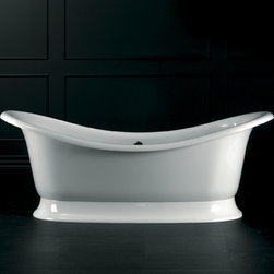 Marlborough Classic Bath - A large and curvaceous slipper tub perfect for two, the romantic Marlborough steals the show in any bathroom.