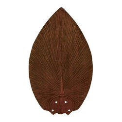 Tommy Bahama - Tommy Bahama TB540DM Dark Mahogany Island Breezes Tropical / Safari - Set of 5 Blades for use with Tommy Bahama FansHand Carved WoodCreates a Blades Span of 52""