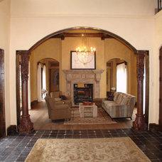 Mediterranean Family Room by Cote Renard Architecture