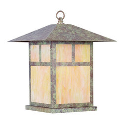 Livex Lighting - Livex Lighting 2144 1 Light 150W Outdoor Pendant - 1 Light 150W Outdoor Pendant with Medium Bulb Base and Iridescent Tiffany Glass from Montclair Mission SeriesProduct Features: